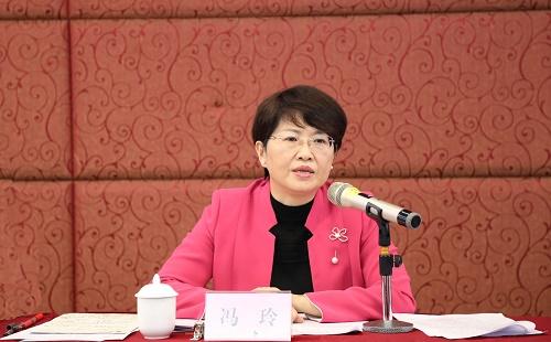 2.省妇联主席、省妇儿工委副主任冯玲出席会议并讲话.jpg